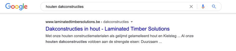 Titel en beschrijving in zoekresultaten van Google