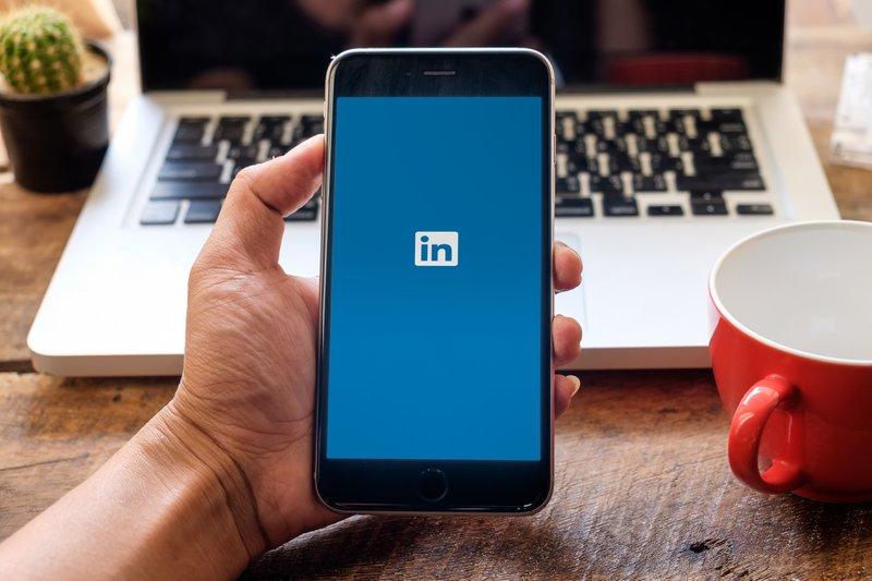 LinkedIn mobiele app op iPhone