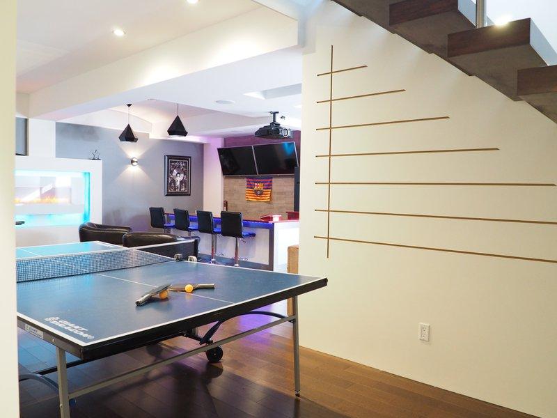 Basement games room and bar
