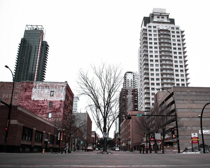 Downtown Edmonton condos.
