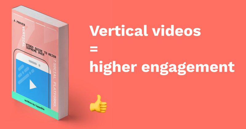Tappable Vertical video ebook