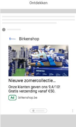 google ads voorbeeldadvertentie