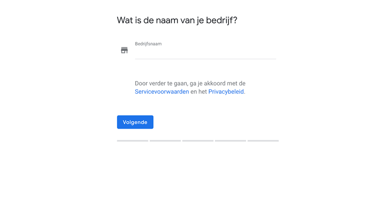 Google Mijn Bedrijf opzetten