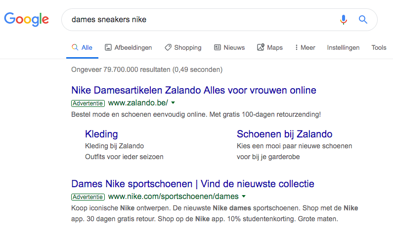 nike advertentie sneakers