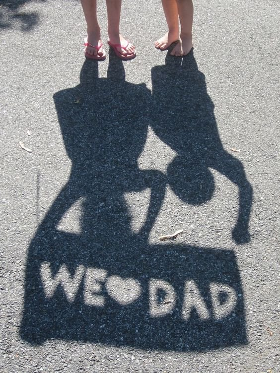 #ptahour roundup blog from PTAsocial  - We Love Dad shadow sign