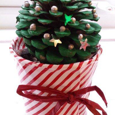 Christmas Fair pinecone competition - pine cone xmas tree