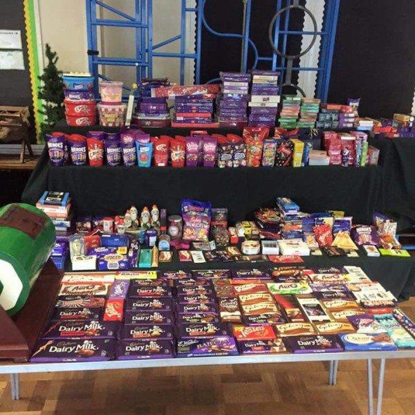 Norris Bank Primary PTA Christmas Fair Chocolate Tombola