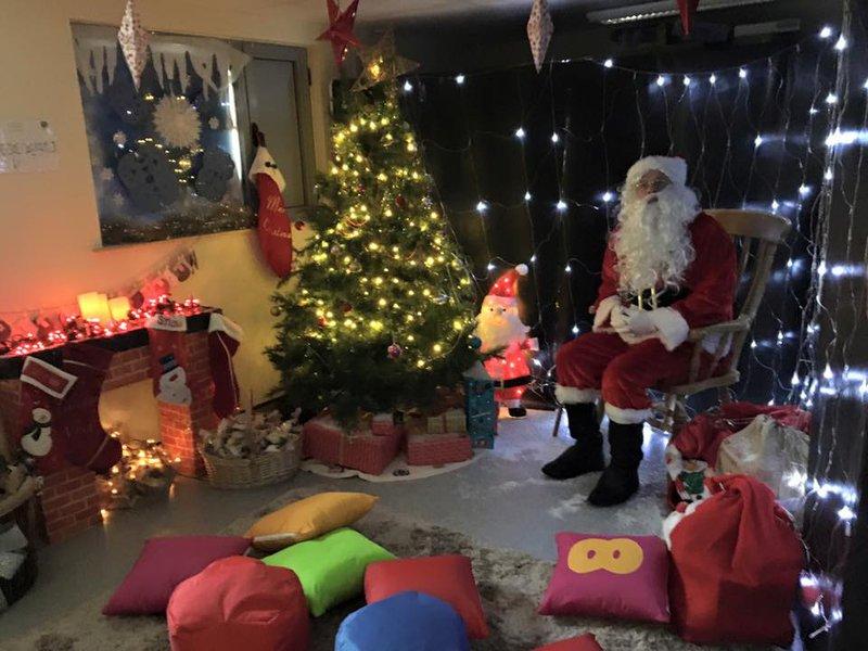 The Croft Primary School PTA Christmas Fair Santa's Grotto