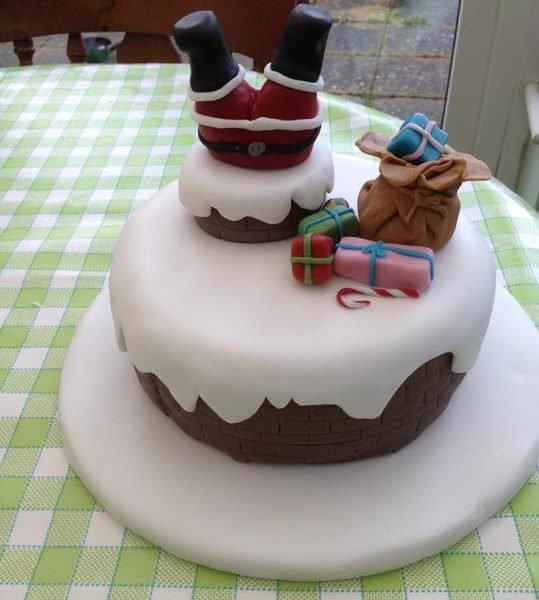 The Grange C.P. PTFA Christmas Fair Santa cake