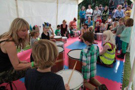 Drumming fun at PTA music festival