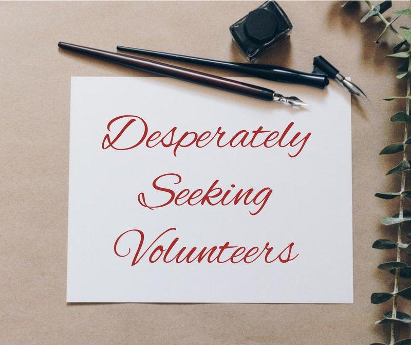 PTA Newsletters titled - Desperately seeking PTA volunteers