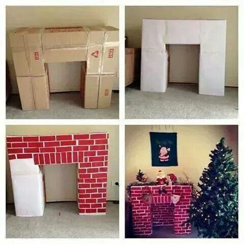 Making a DIY Santa's Grotto chimney from Cardboard