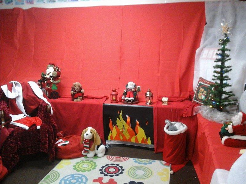 Holywood PTA Christmas fair Santa's Grotto
