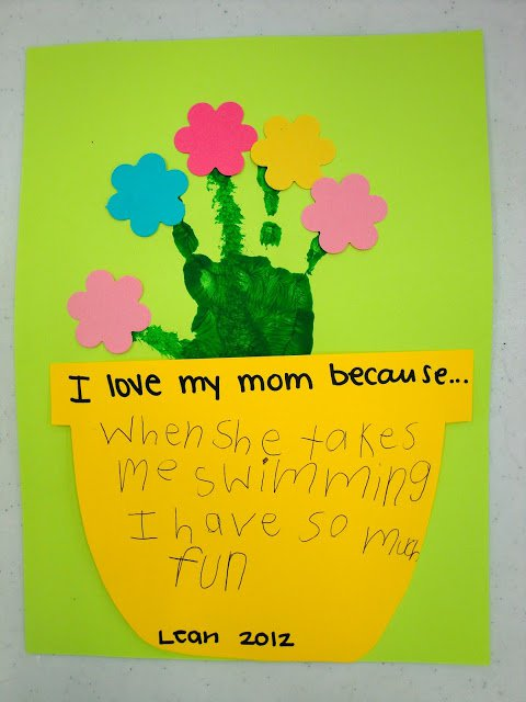 I love my mom because... mother's day card