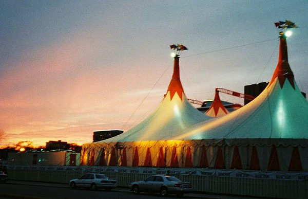 PTA summer circus tent - summer fundraising events