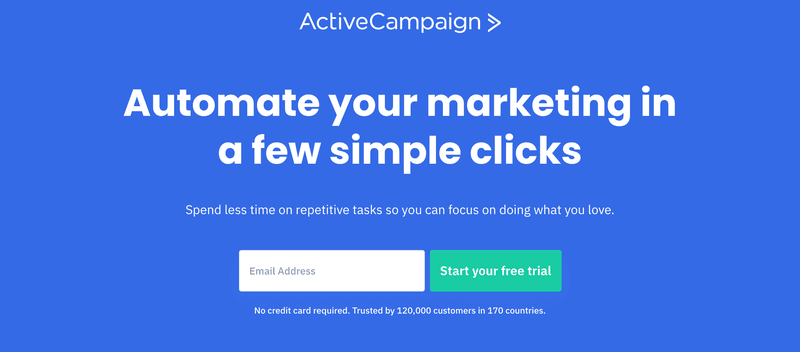 ActiveCampaign's black friday deals marketing automation tool