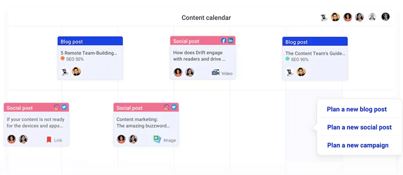 content calendar from storychief