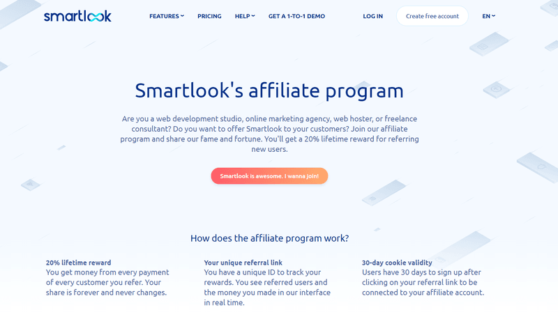 Affiliate marketing opportunity: smartlook