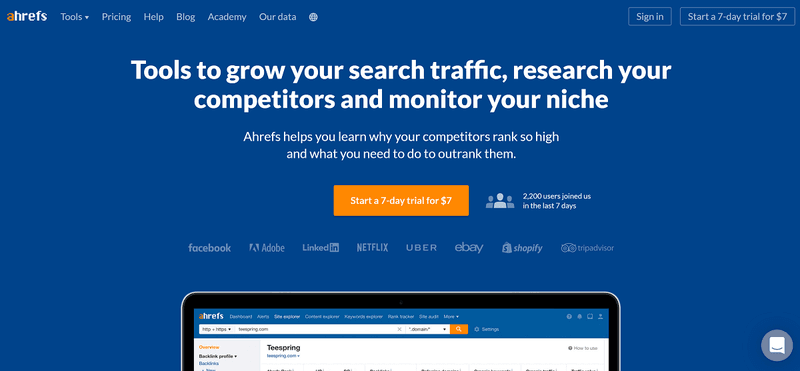 Content Marketing Management Software: Ahrefs