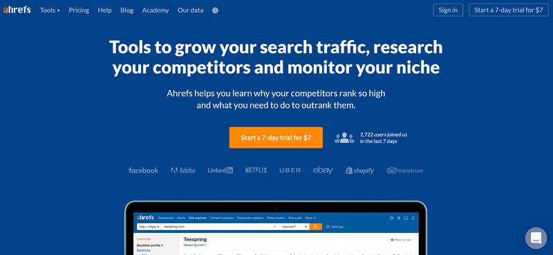 SEO tools for copywriters #4: Ahrefs
