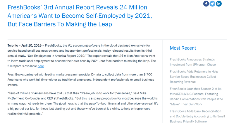 Freshbooks' 3rd Annual Report