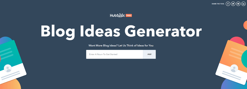 Blog Ideas Generator for new content ideas for blogs