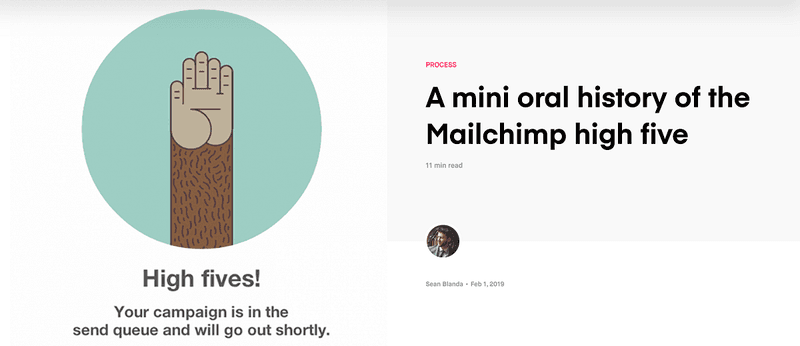 InVision content marketing strategy example: Mailchimp
