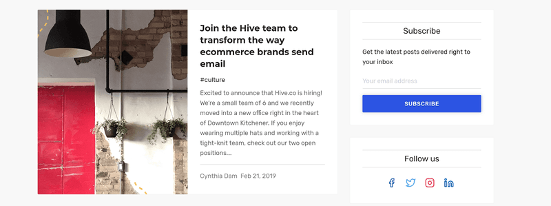 hive blog example