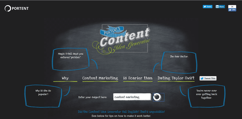Content Marketing Management Software: Portent's Content
