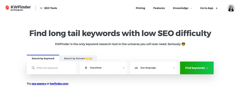 SEO tools for copywriters #1: Mangools