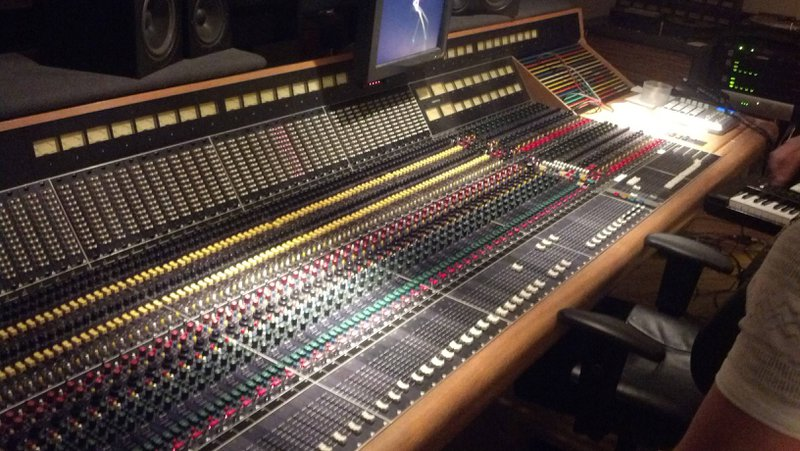 Mixing panel in the Abbey Road studios. Many, many, many buttons and sliders.