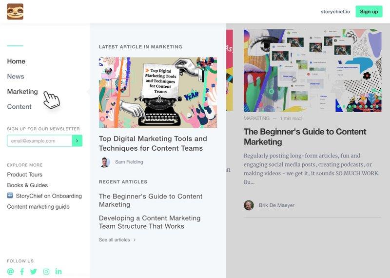 Face-lift of your blog navigation