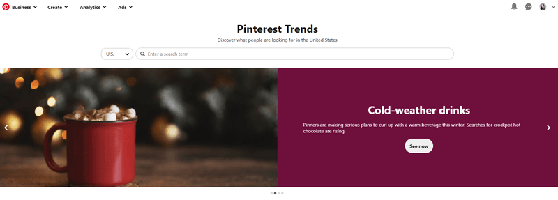 Pinterest Trends for new content ideas for blogs