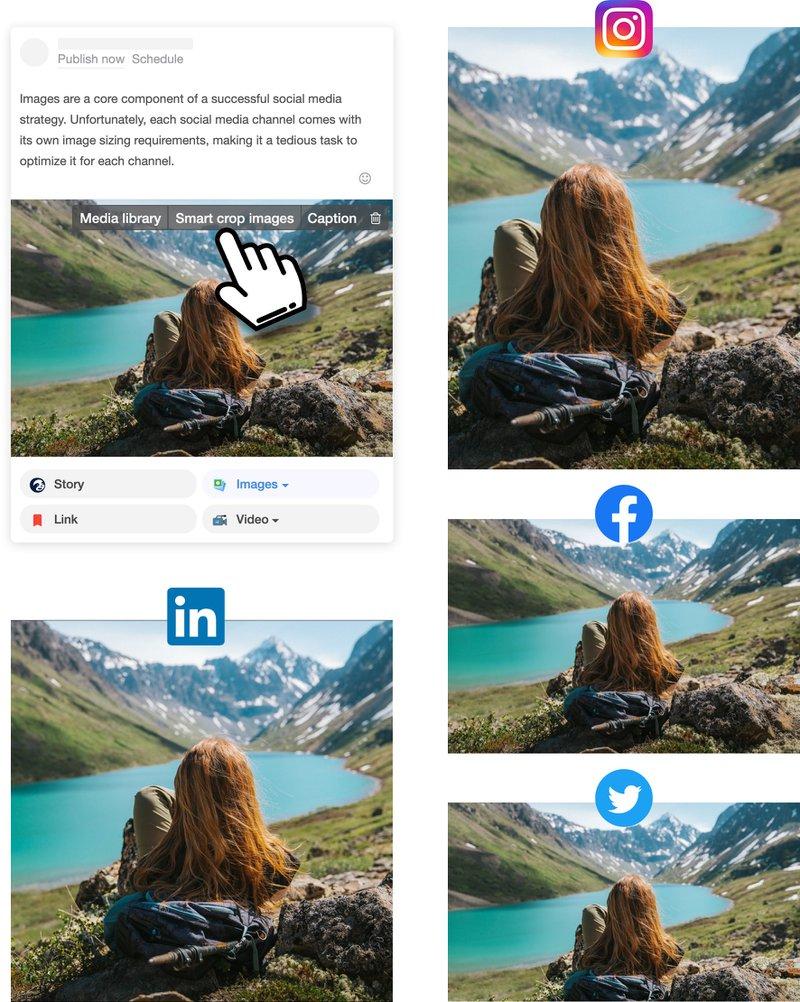 Social Media Smart Image Resizing Tool