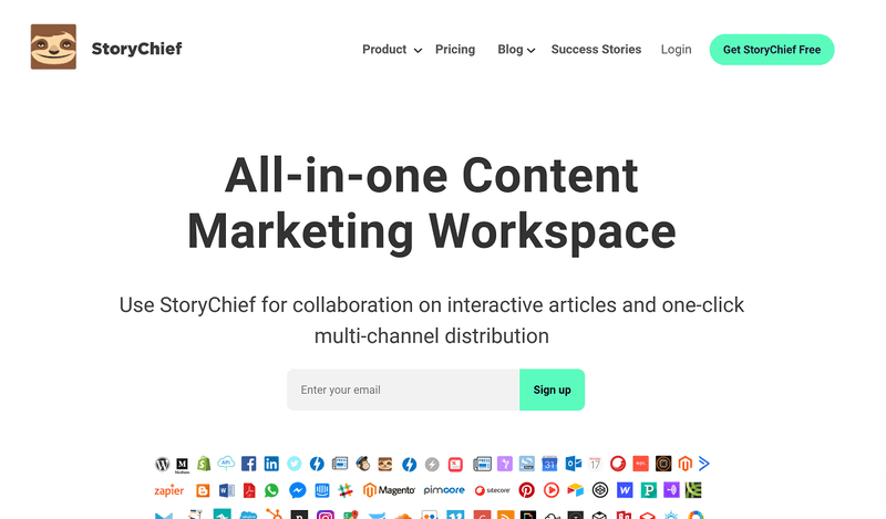 Content Marketing Solution #2 : StoryChief