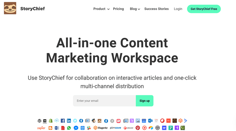 Content Marketing Software #1: StoryChief