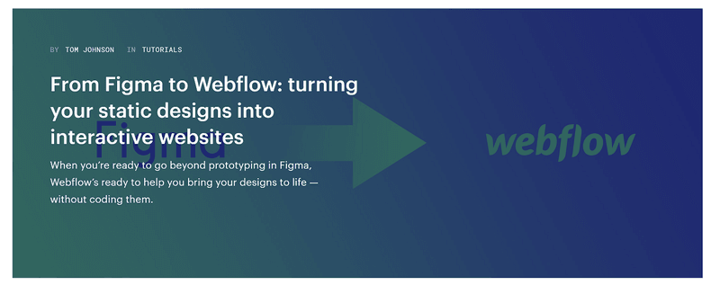 Webflow content marketing strategy example: tutorials