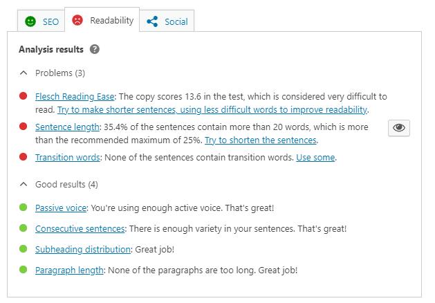 Yoast to optimize blog for readability