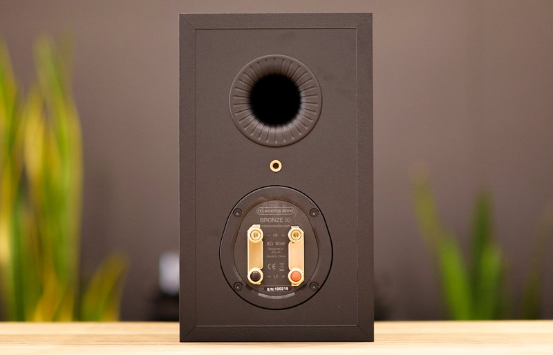 monitor audio bronze 50 terminals and bass port