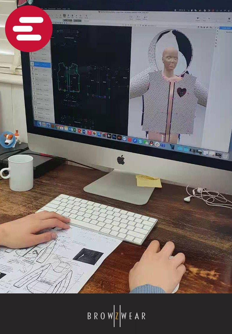 Browzwear 3D software tool apparel design