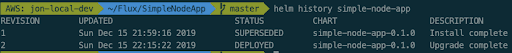 verify that the helm release inside the cluster was updated