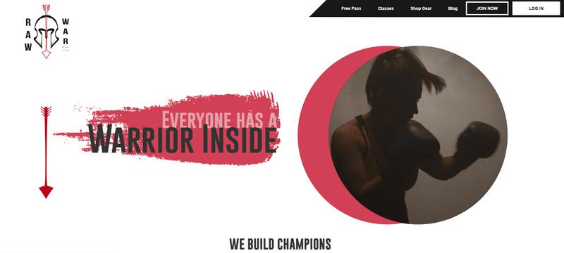 Fitness Website-Raw War MMA Gym