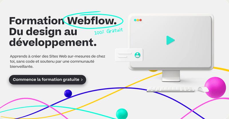 landing page sur Webflow