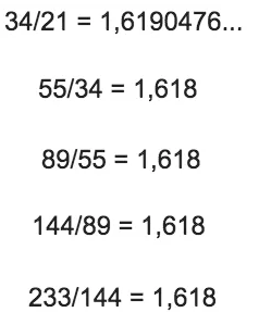 quotiënten fibonacci