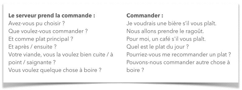 Frans op restaurant