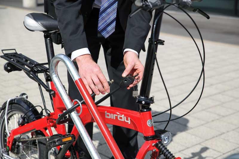 Een goed slot voorkomt dat fietsen gestolen worden.