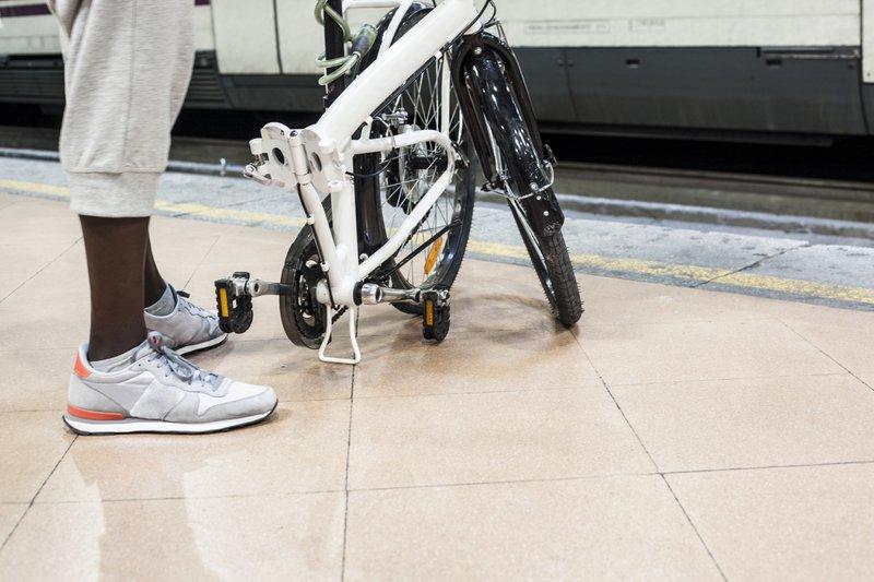 multimodalité avec un vélo pliant
