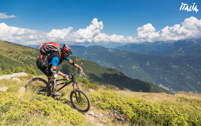 Mountainbike à Valtellina