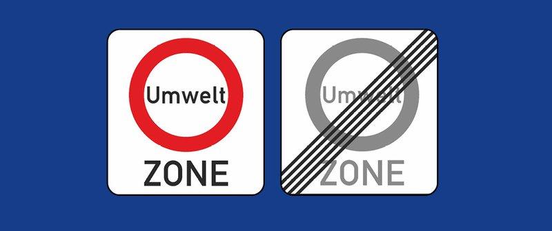 Panneau Umweltzone en Allemagne