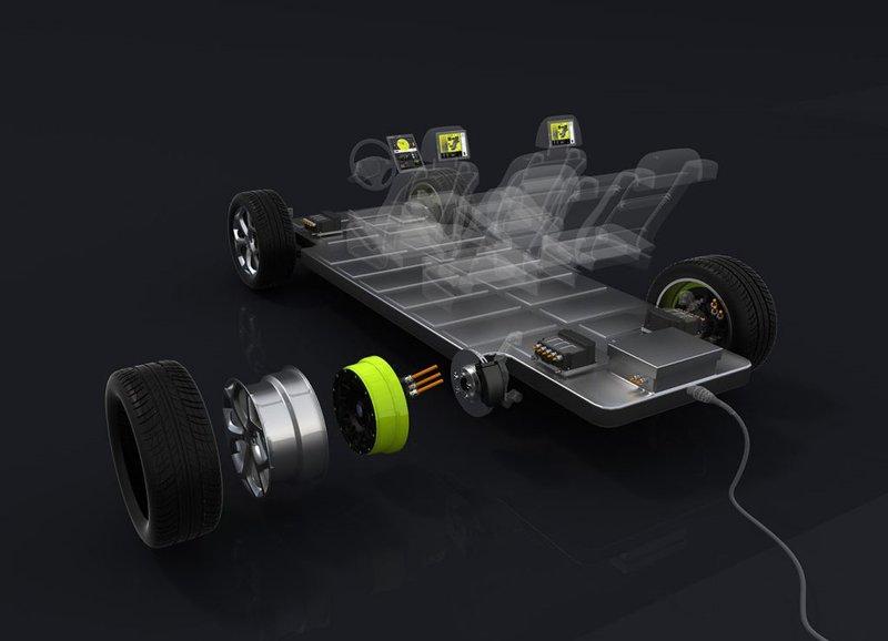 Moteur électrique intégré dans la roue